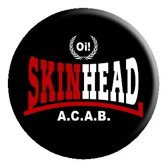 Skinhead Oi! A.C.A.B. - black - Button (2,5 cm) 733