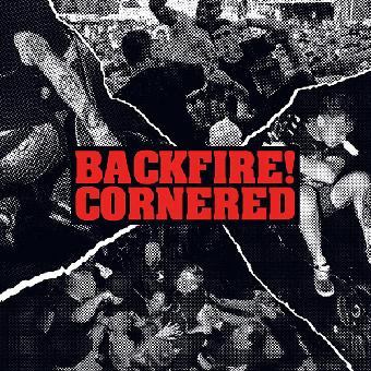 """split Backfire! / Cornered """"same"""" EP 7"""" (lim. 300, black)"""