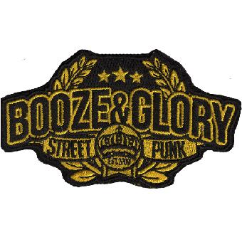 """Booze & Glory """"Street Punk"""" Aufnäher (gestickt)"""