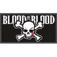 """Blood for Blood """"Skull"""" Aufnäher / patch (gestickt)"""