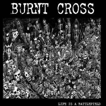"Burnt Cross ""Life is a battlefield"" EP 7"" (lim. 500, black + Poster)"