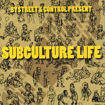 "split Bystreet / Control ""Subculture Life"" EP 7"" (black)"