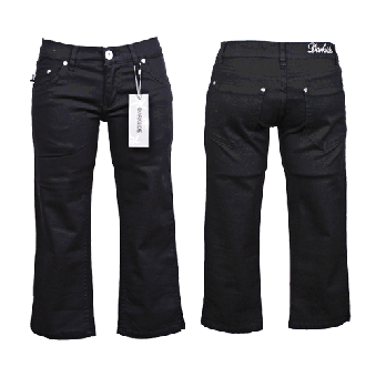 Darkside Capri Jeans (Ladies) (schwarz/black)