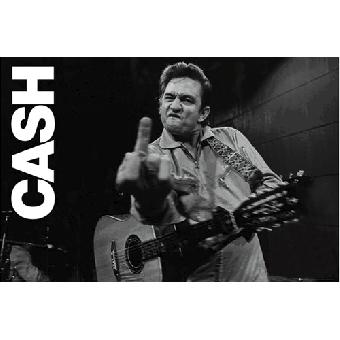 "Johnny Cash ""San Quentin / Finger"" - Poster (gerollt)"