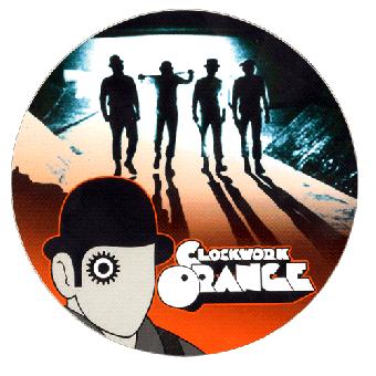 """Clockwork Orange """"Alex"""" (rot) Aufkleber / Sticker 014"""