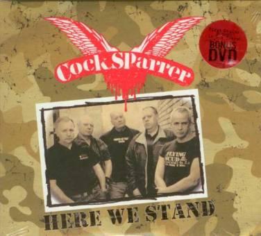 """Cock Sparrer """"Here we stand"""" CD (Digi) + DVD"""