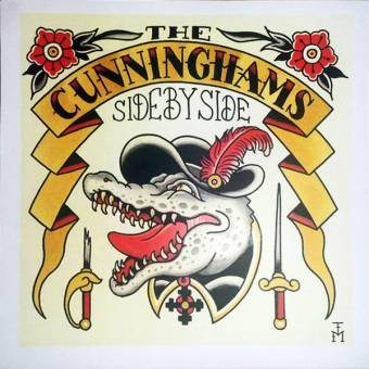 "Cunninghams, The ""Side by side"" EP 7"" (lim. 46 gold vinyl, cover 2)"