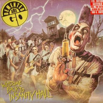 "Demented Are Go ""Welcome back to Insanity Hall"" LP (lim. white/purple)"