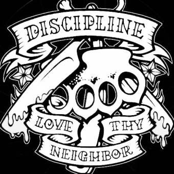 "Discipline ""Love thy neighbor"" Stoffaufnäher (Druck)"