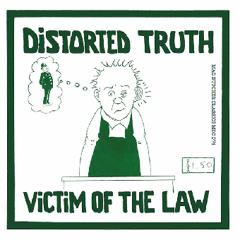 """Distorted Truth """"Victim of th elaw"""" EP 7"""" (lim. 400, black)"""