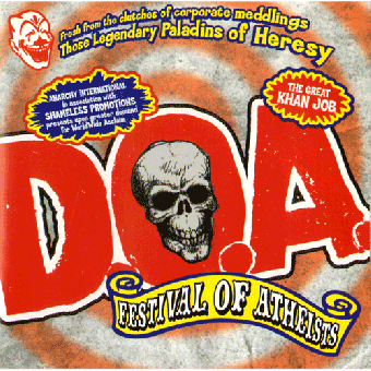 "D.O.A. ""Festival of Atheists"" CD"
