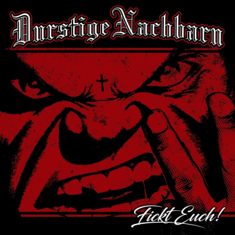 """Durstige Nachbarn """"Fickt euch!"""" LP (red/black marbeled)"""