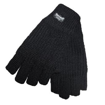 Mil -Tec Fingerless Gloves (black) (Thinsulate)