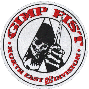 "Gimp Fist ""North East Oi! Division"" Slipmat (white)"