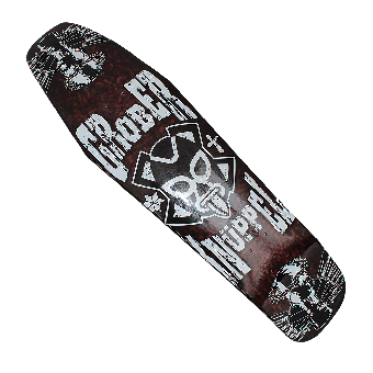 "Grober Knüppel ""Coffin Style"" Skateboard Deck"