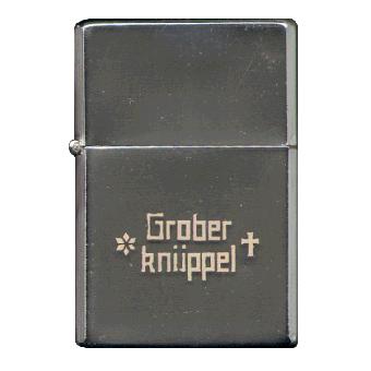 """Grober Knüppel """"Logo"""" Sturmfeuerzeug"""
