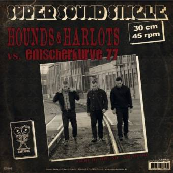 "split Hounds & Harlots / Emscherkurve77 ""same"" 12"" MaxiEP (lim. 200, col.)"
