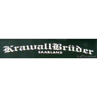 """Krawallbrüder """"Saarland"""" Heckscheibenaufkleber (40cm, außen)"""