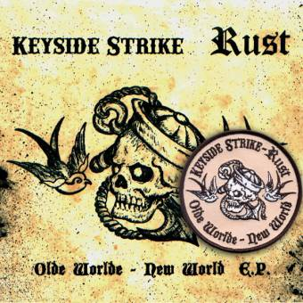 "split Keyside Strike / Rust ""Olde World - New York"" EP 7"" + patch (purple)"