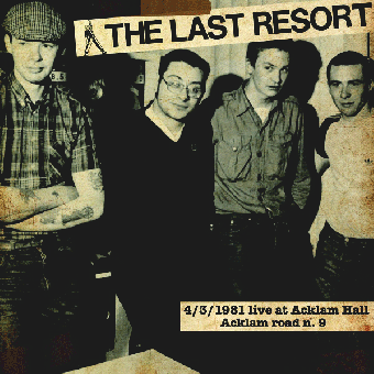 "Last Resort, The ""4/3/1981 Live At Acklam Hall"" LP (lim. 300, pink)"