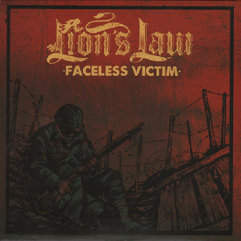 "Lion`s Law feat. Lars Frederiksen ""Faceless Victim"" EP 7"" (lim. 250, red cover)"