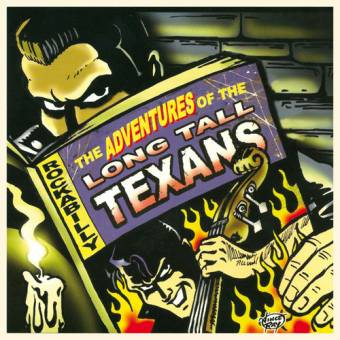 """Long Tall Texans """"The Adventures Of The Long Tall Texans"""" LP (2nd press, red)"""