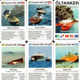 "Quartett ""Öltanker & Bohrinseln"" Kartenspiel / playing cards"