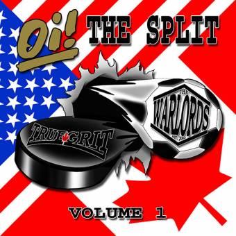 "split True Grit / Warlords ""Oi! The Split Vol.1"" EP 7"" (lim. 200, black) (+DL)"