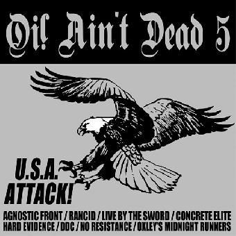 """V/A """"Oi! ain`t dead 5 - USA Attack!"""" LP (lim. 400, silver)"""