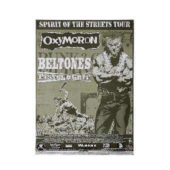Oxymoron / Beltones / Pistol Grop Tour Poster (gefaltet)