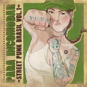 "V/A ""Para Incomodar - Street Punk Brasil Vol 1."" LP (lim. 250, clear green)"