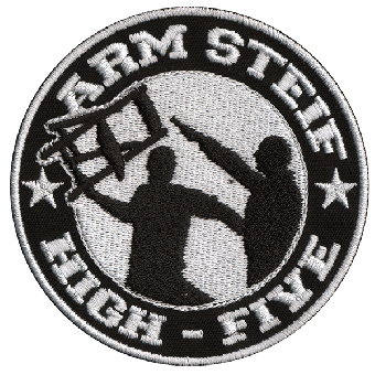 "Berliner Weisse ""Arm steif..."" patch (embroided)"