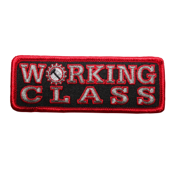 Working Class Patch (embroidered) (red/black)