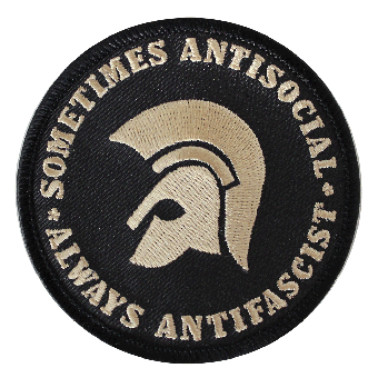 Sometimes antisocial  Patch (gestickt) (black)