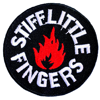 """Stiff Little Fingers """"Flame"""" patch (embroided)"""