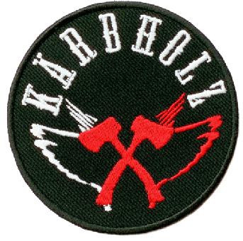 """Kärbholz """"Axt""""  - Aufnäher/patch (gestickt)"""