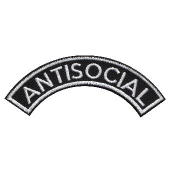 """Antisocial """"bent"""" Aufnäher / patch (gestickt)"""