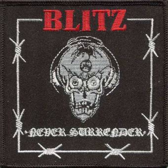 "Blitz ""Never Surrender"" Aufnäher / patch (gestickt)"