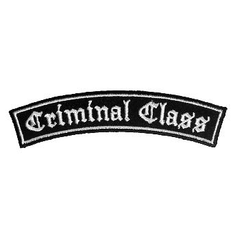 """Criminal Class """"bent"""" Aufnäher/ patch (gestickt)"""