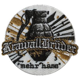 """KrawallBrüder """"mehr hass - Granate"""" Aufnäher / patch (gestickt)"""