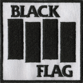 """Black Flag """"Logo white"""" patch (embroided)"""