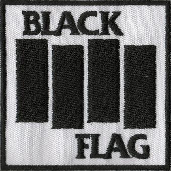 """Black Flag """"Logo white"""" Aufnäher (gestickt)"""