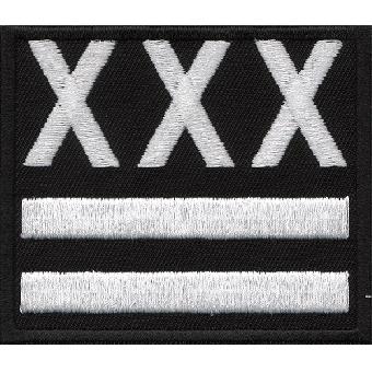 XXX Straight Edge - Aufnäher (gestickt)