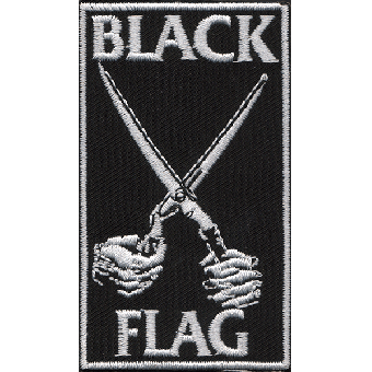 "Black Flag ""Scissors"" patch (embroided)"