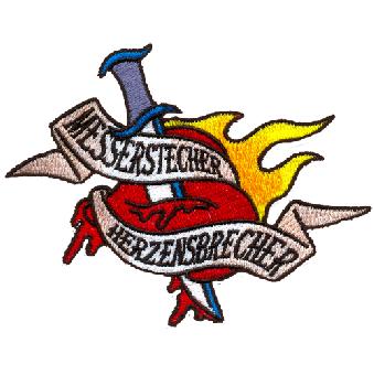 """Messerstecher Herzensbrecher """"Logo"""" - Aufnäher (gestickt)"""