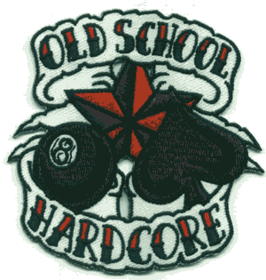 Old School Hardcore - Aufnäher, gestickt