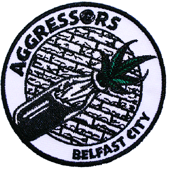 "Aggressors B.C. ""Brickwall / Bottle"" patch (embroided)"