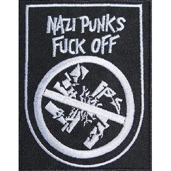 Nazi Punks Fuck Off - Aufnäher / patch (gestickt)