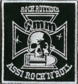"""9mm Assi Rock`n`Roll """"Logo"""" Aufnäher (gestickt)"""