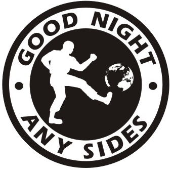 Good night any sides - Aufnäher/ patch (gestickt)